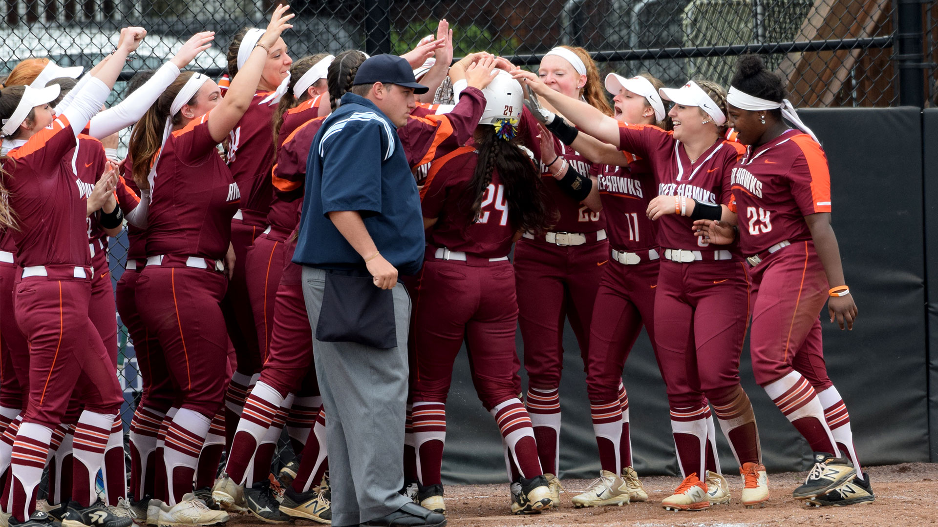 Solid Hitting Powers River Hawk Softball To Landmark Championship